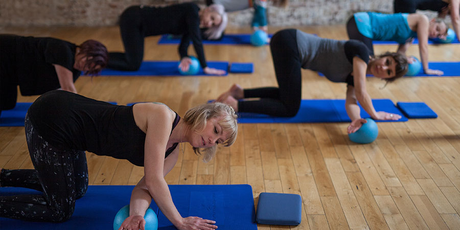 Katie teaching pilates in Brighton